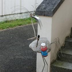 Edelmetallsteinvogel Malerin
