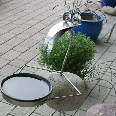 Metallsteinvogel Tränke