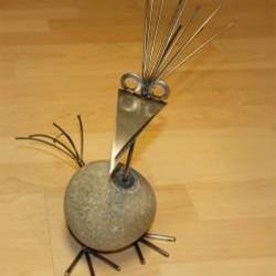 Steinvogel Uno für Büro