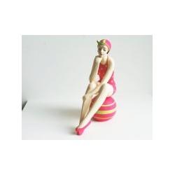 Badenixe pink mit Ball